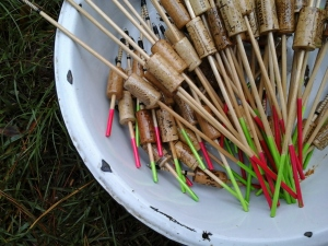 Bucket of Bobbers: long and short stems